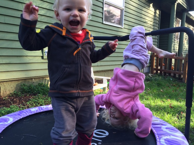 Jumping: This 18 month old toddler's favorite activity. Ten Thousand Hour Mama