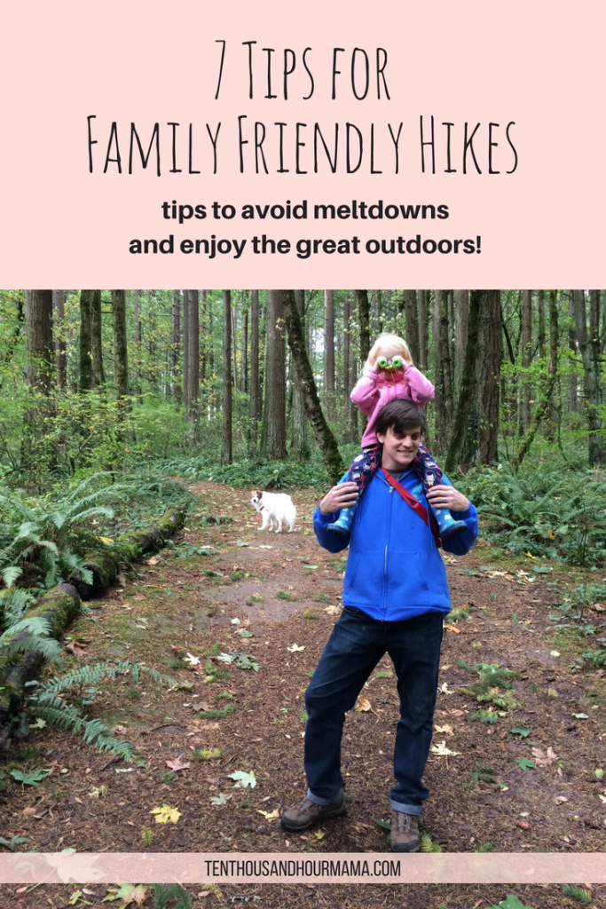 Hiking with little kids can be fun! Tips for family friendly hikes. Ten Thousand Hour Mama