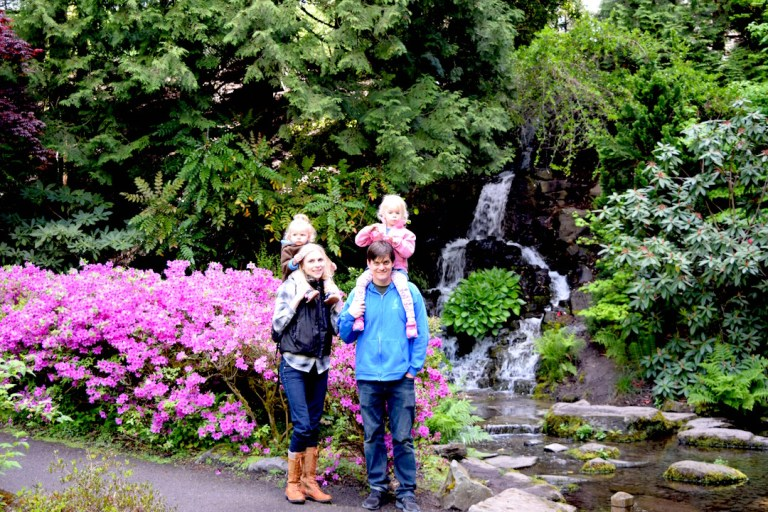 Crystal Springs Portland rhododendron garden: A perfect walk and hiking destination for Oregon travel with kids. Ten Thousand Hour Mama
