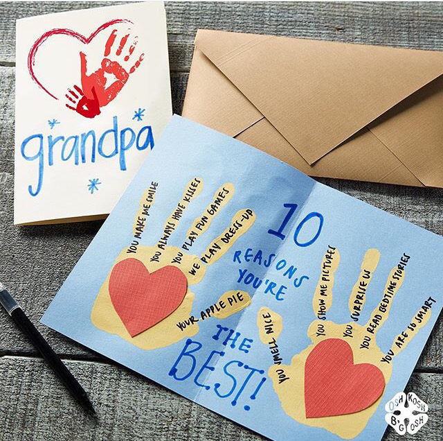 10 best handmade cards and handprint crafts for kids. Ten Thousand Hour Mama