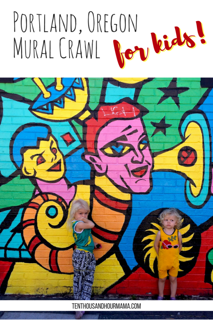 This kids mural crawl in Portland, Oregon is a great family travel activity! Plus, you'll get incredibly family photos in front of street art. Ten Thousand Hour Mama