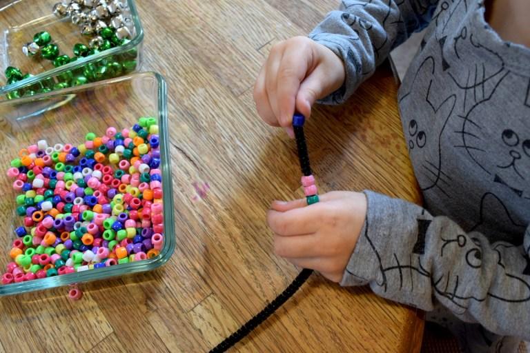 5 senses homeschool preschool activities: exploring sound through jingle bracelets and 4 other ideas