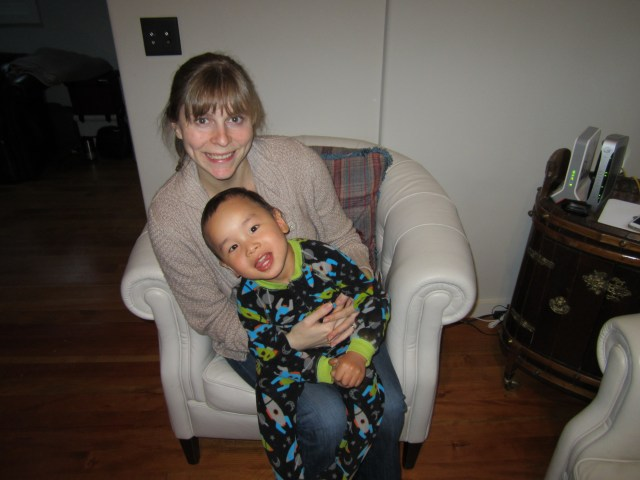Tai's PJs glowed in the dark. We were both very excited about this.