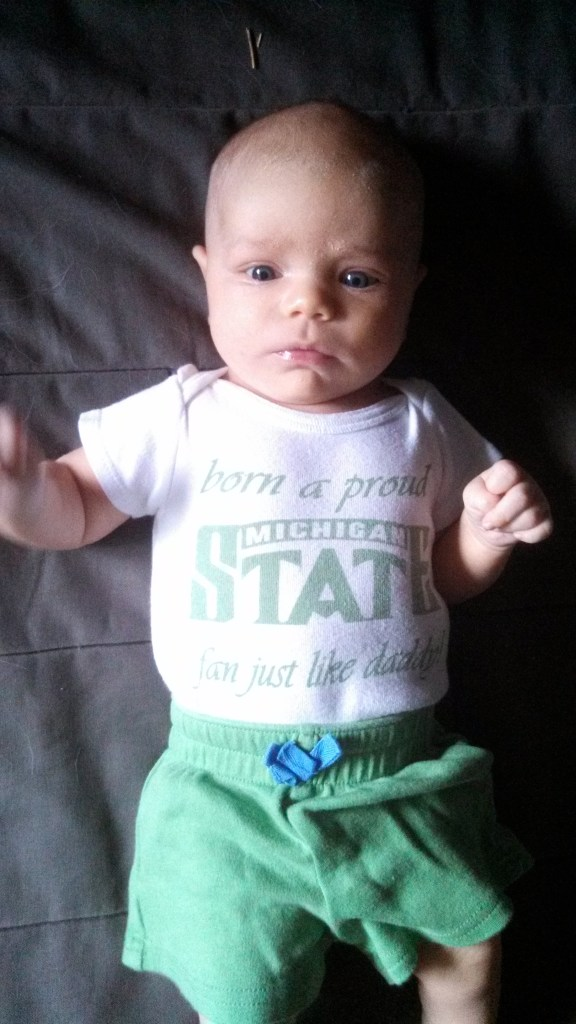 Don't worry, Duck fans: She has an Oregon onesie, too!