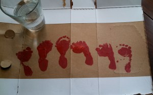 Ten Thousand Hour Mama baby footprint art