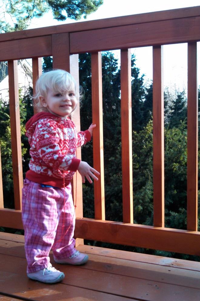 Toddler deck smiles - Ten Thousand Hour Mama