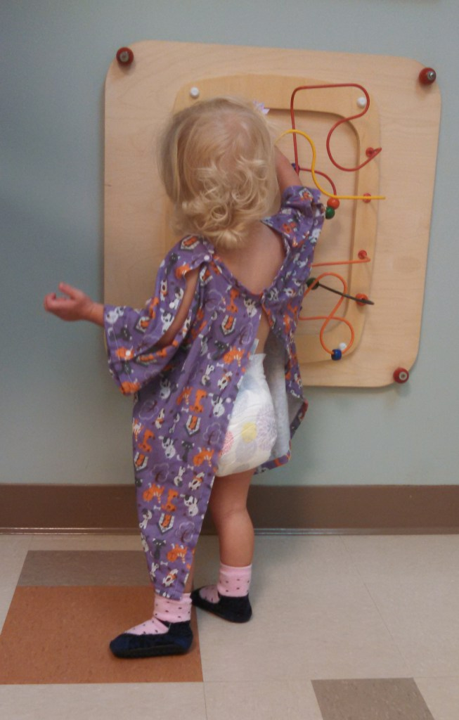 Why aren't adult hospital gowns this cute?