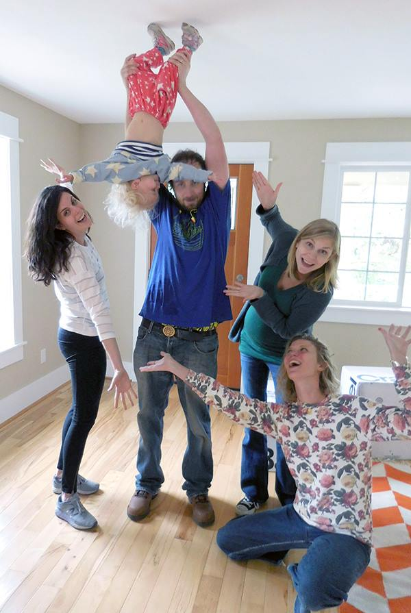 upside down toddler family