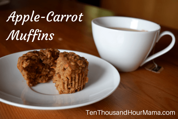 Healthy apple-carrot muffins recipe