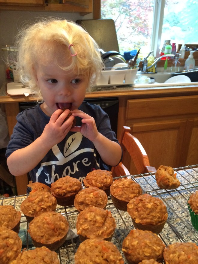 Toddler healthy apple carrot muffins recipe
