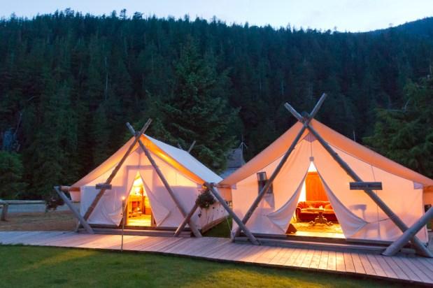 Clayoquot Wilderness Resort Lounge Tents