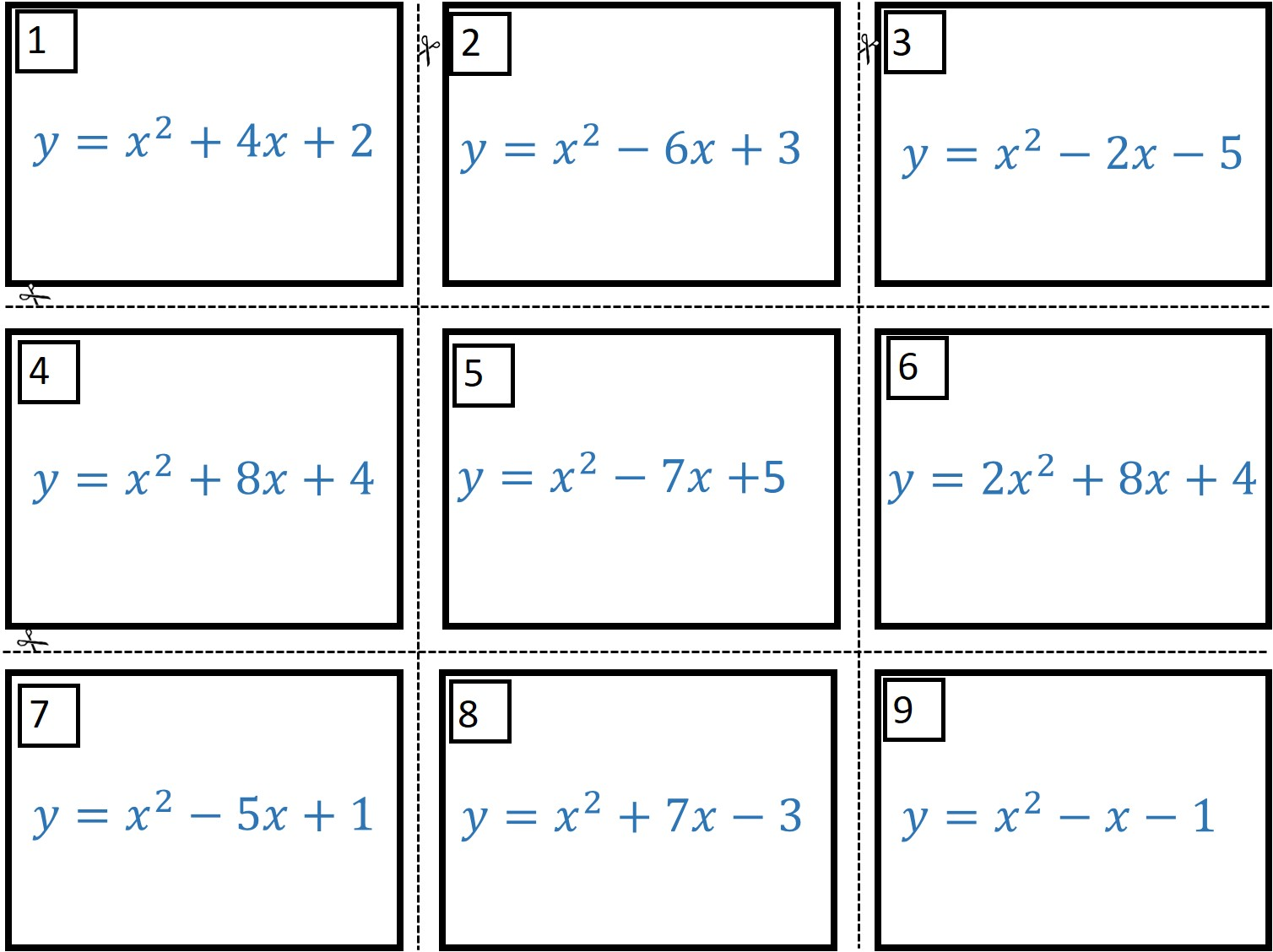 Completing The Square Activity