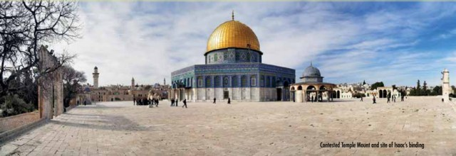 Contested Temple Mount and site of Isaac's binding