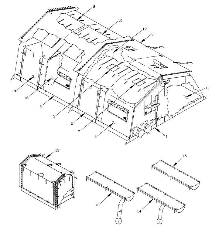 Figure 1-1. TENT SECTIONS