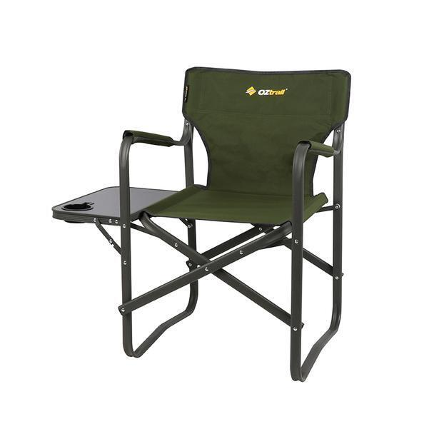 Folding Camp Chair With Side Table Oztrail Classic Directors Chair With Side Table