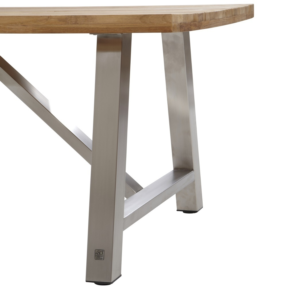Table Exterieur Inox | Grande Table De Salon En Bois Belle ...
