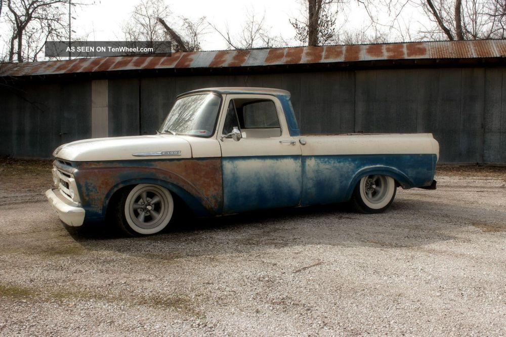 medium resolution of  1961 ford f100 truck shortbed unibody ratrod hot rod custom f 100 photo 2