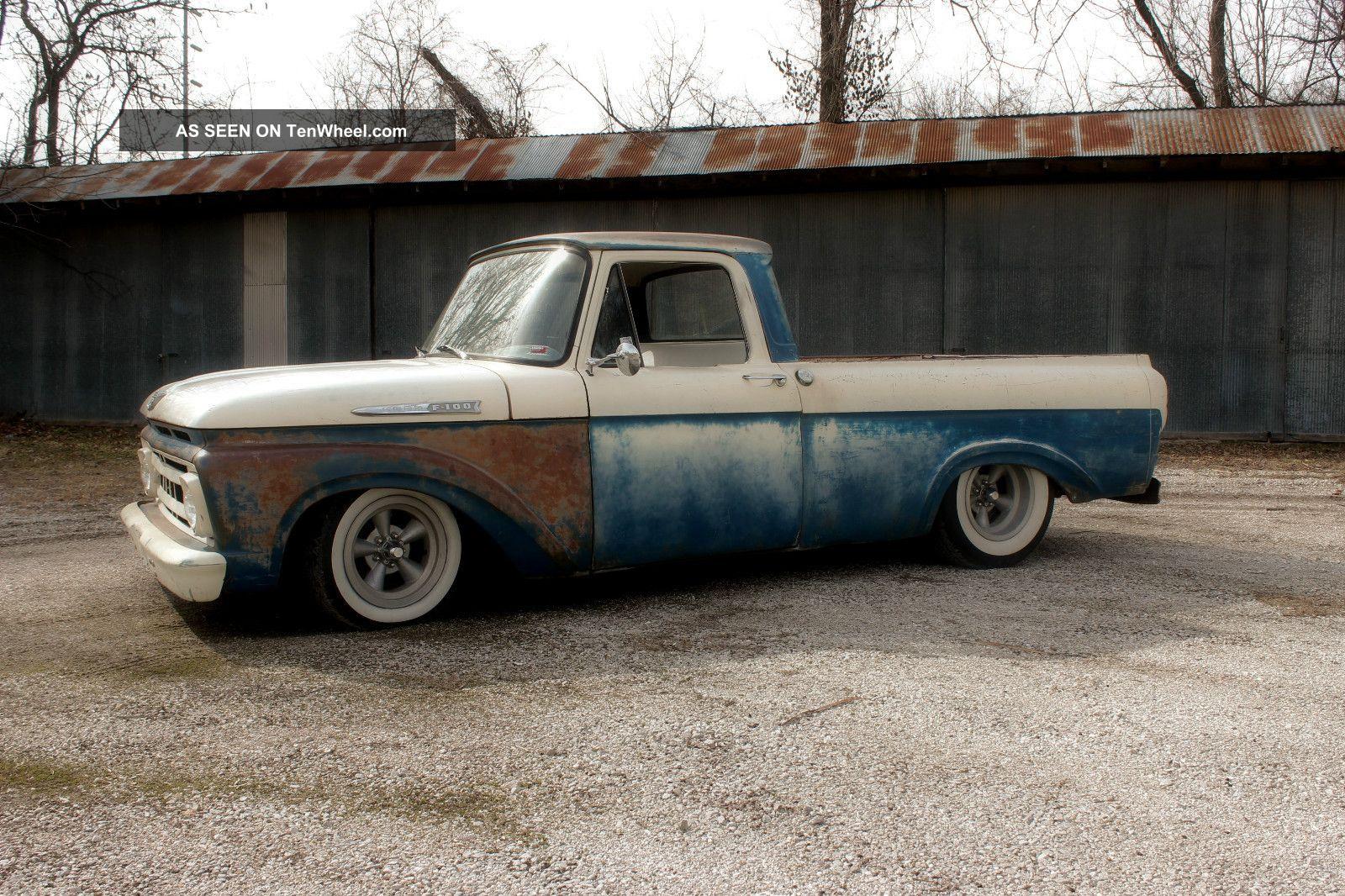hight resolution of  1961 ford f100 truck shortbed unibody ratrod hot rod custom f 100 photo 2