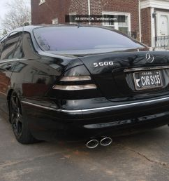 2002 mercedes benz s500 air bag suspension blacked out 19 amg rims tint exhaust [ 1600 x 1200 Pixel ]