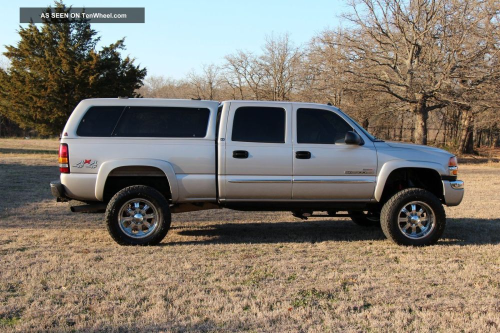 medium resolution of 2004 gmc sierra 2500 hd sle crew cab pickup 4 door 6 6l duramax diesel 4x4