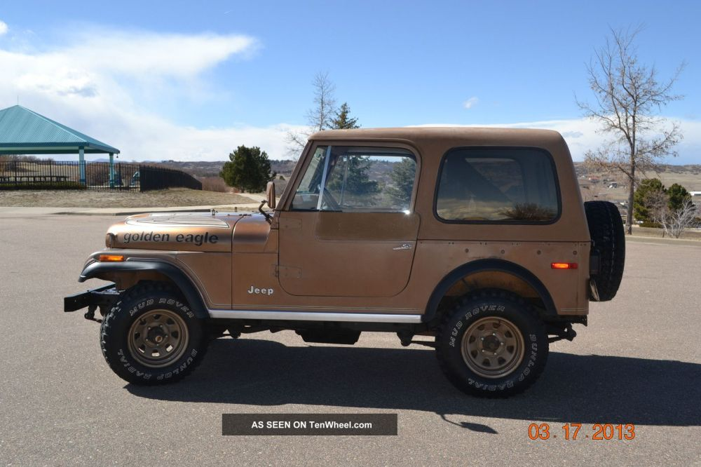 medium resolution of 1979 jeep cj7 golden eagle special order package 304 v8 4 speed photo