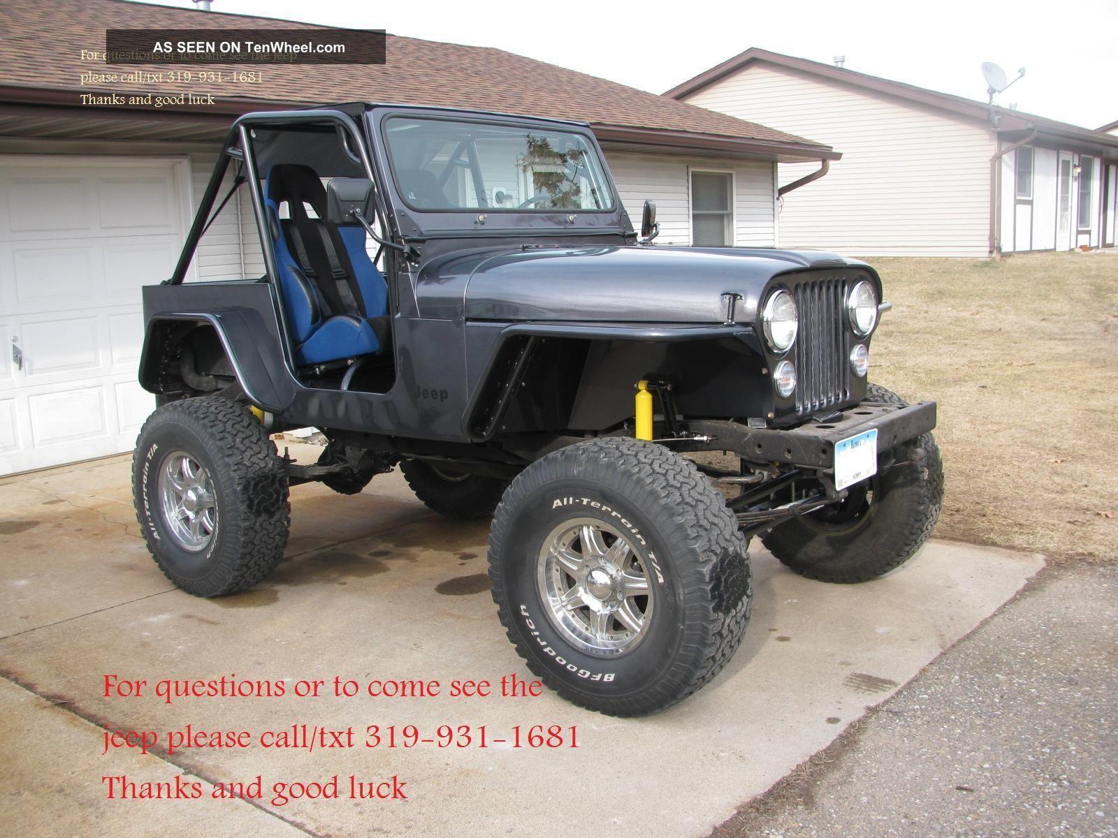 hight resolution of 1976 jeep cj5 frame off crawler dana lifted v8 tube fenders cage cj 5 7 photo