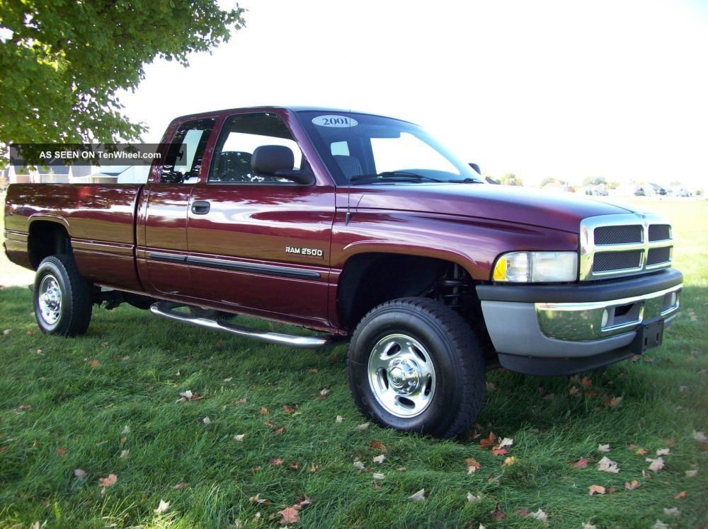 medium resolution of 2001 dodge ram 2500 quad cab 4x4 slt manual cummins diesel long bed no rust