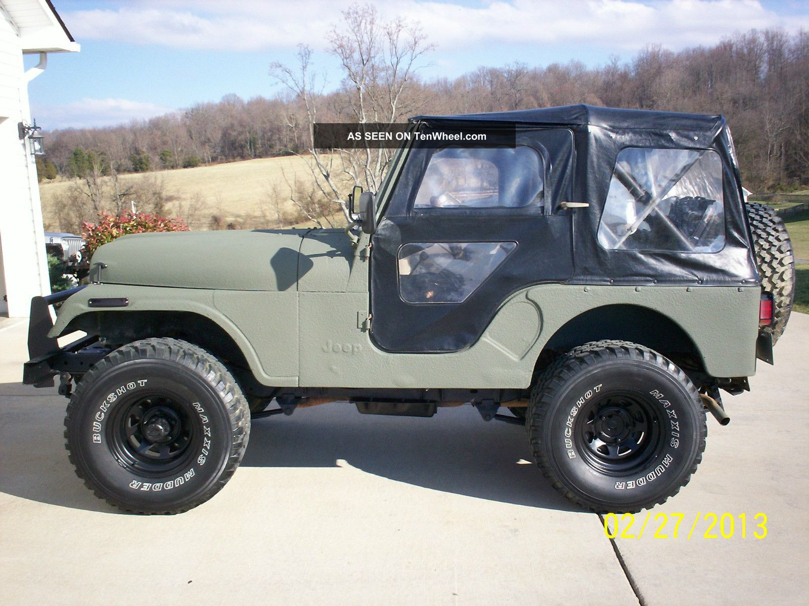 hight resolution of 1977 amc jeep cj5 304 v8 3 speed lifted 33 s bedlinered great daily driver