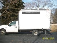 2005 Ford F350 Box Truck With Ladder Rack