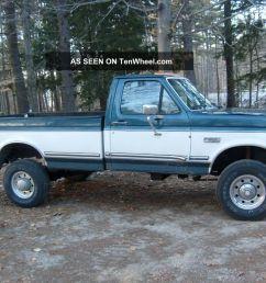 diesel 1988 ford f 350 xlt lariat standard cab pickup 2 door 7 3l 4x4 drive home [ 1024 x 768 Pixel ]