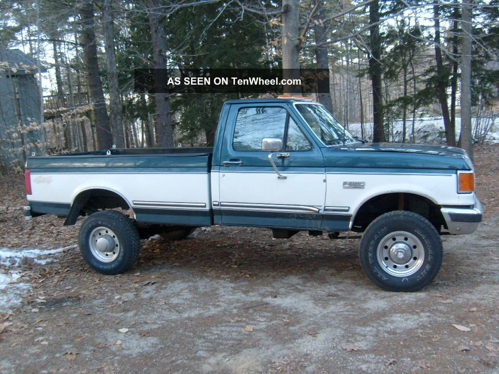 hight resolution of diesel 1988 ford f 350 xlt lariat standard cab pickup 2 door 7 3l 4x4 drive home