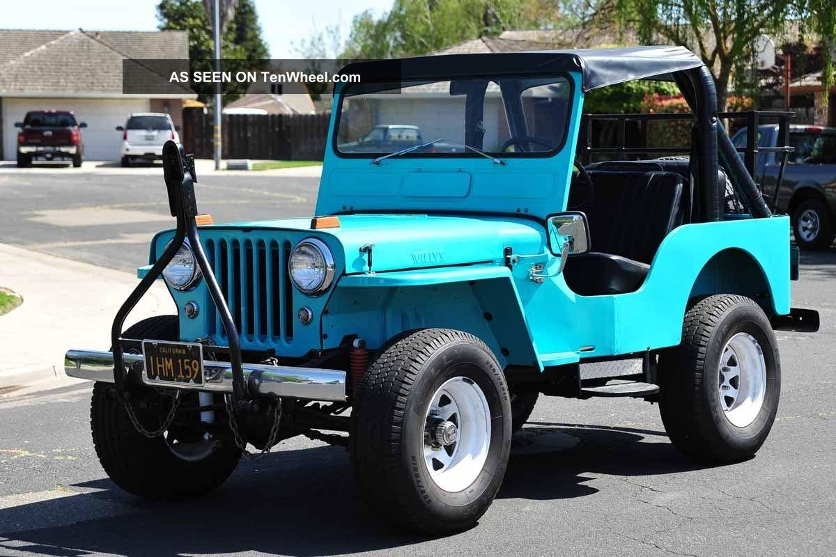 hight resolution of 1960 willys jeep cj5 running gear 231 buick v6 warn overdrive 4x4 4wd jeep cj5 v6