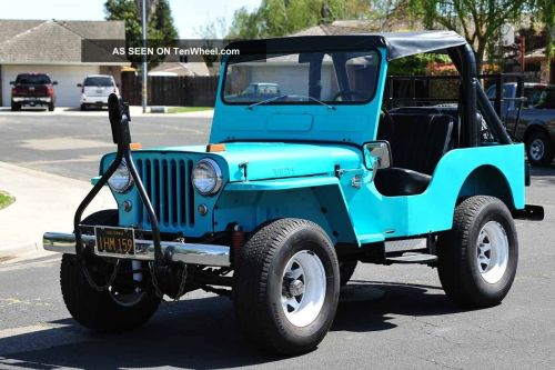 small resolution of 1960 willys jeep cj5 running gear 231 buick v6 warn overdrive 4x4 4wd jeep cj5 v6