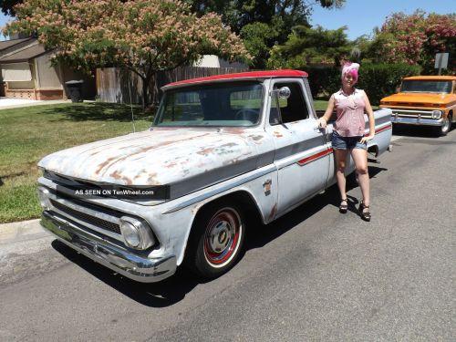 small resolution of 1965 c10 custom cab pick up truck hot rat rod chopper bobber hauler i6 292 six