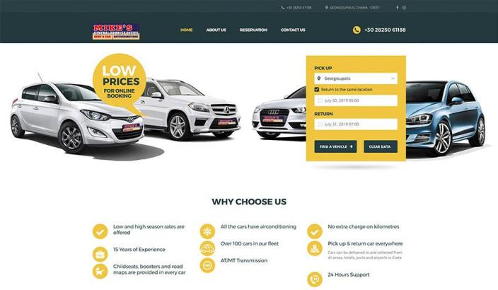 Web Design | Mike's Rent a Car
