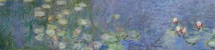 Claude Monet, Manhã (detalhe), da série As Ninféias, 1914-1926, Musée de l'Orangerie, Paris