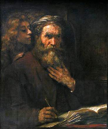 Rembrandt, Saint Matthew and the Angel, 1661
