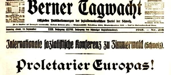 Aos 100 anos da Conferência de Zimmerwald, que lições tirar?