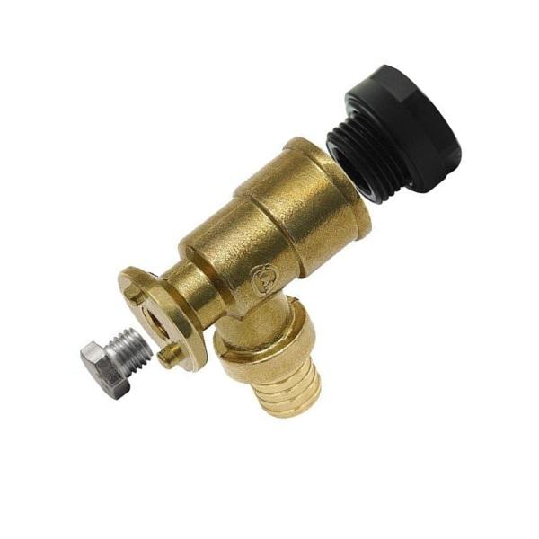 Отвод фиксируемый KAN-therm Push 18×2,5 G1/2″ (K) с короткой полимерной заглушкой фото