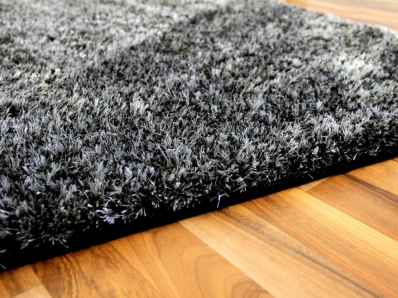 Berber Shaggy Teppich Hochflor Shaggy Teppich Luxus Feeling Mix Anthrazit In 24