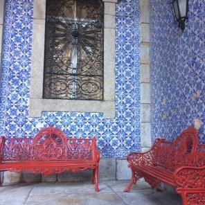 típicos mosaicos azules