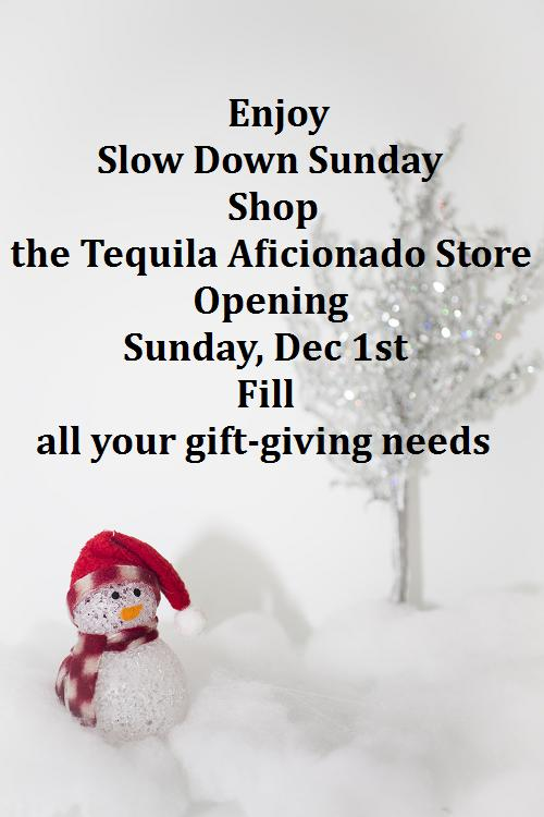 slowdown sunday, christmas shopping