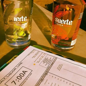 Suerte tequila courtesy of Felicity Ryan.