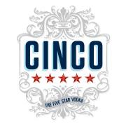 Cinco Vodka logo.