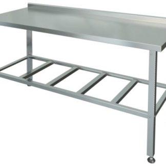Стол производственный из нержавеющей стали без борта 1000х700х850