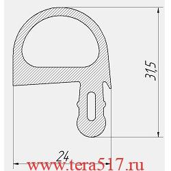 Уплотнитель Абат ПКА10-1/1ПМ ПКА10-1/1ВМ ПКА10-1/1ПП ПКА10-1/1ВП 2007-2010 120000020165