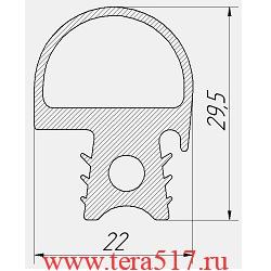 Уплотнитель Абат ПКА10-1/1ПМ ПКА10-1/1ВМ ПКА10-1/1ПП ПКА10-1/1ВП 2010 -НВ 100000008075
