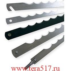 Нож рамный 350 мм штифт 3х6 (CV, 13 мм, 0.5 мм) для хлеборезки