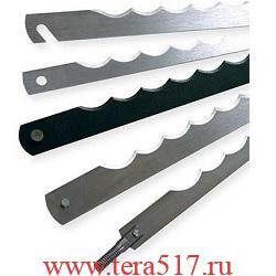 Нож рамный 260 мм штифт 3х6 (CV, 12 мм, 0.5 мм) для хлеборезки TCosmos/ADE