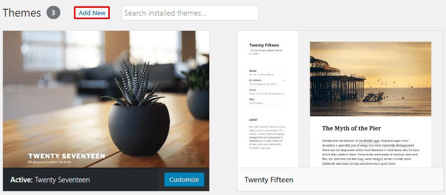 Menambahkan Theme WordPress
